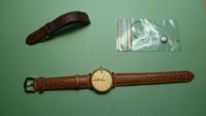 Remplacement de pile avec nettoyage de la boîte et remplacement du bracelet, effectué sur une montre Longines.